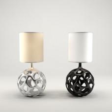 简约时尚桌面台灯球形底座台灯3d模型