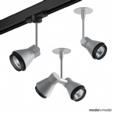 灰色舞台灯光灯具模型