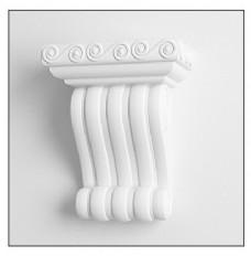 白色简约花纹墙壁花雕模型素材