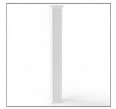 现代白色长方体柱子3d模型