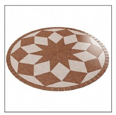 简约圆形地板花纹模型素材