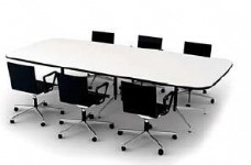 3d渲染多人会议桌效果图