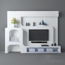 现代简约设计电视柜模型素材