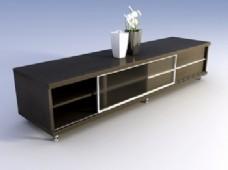 精美家具实木柜电视柜3d模型