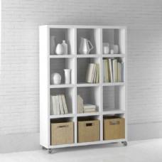 现代休闲白色书架模型素材