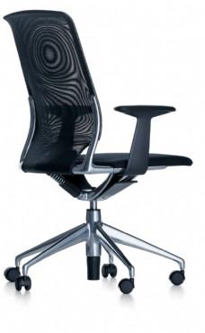 创意时尚黑色花纹办公椅3d模型