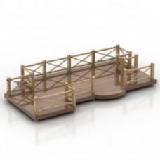 公园装饰桥的三维模型
