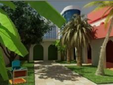 外观设计:热带花园3dsmax模型