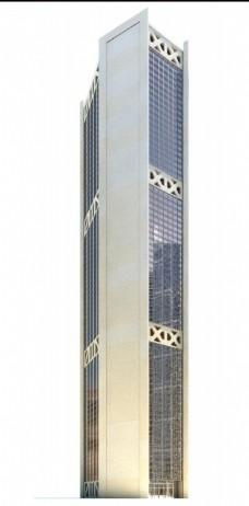 简约现代摩登大楼3d模型