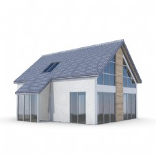 3d渲染海边洋房建筑模型下载