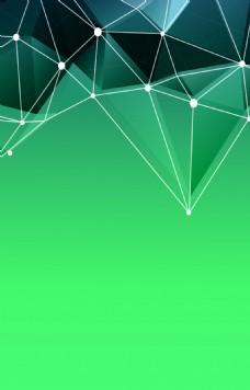 绿色不规则几何背景素材