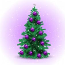 紫色圣诞树饰品