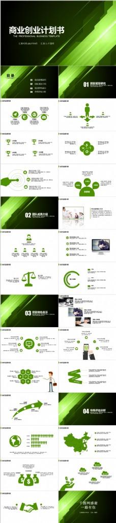 商业创业计划书PPT模版