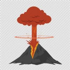火山喷发很高图形免抠png透明图层素材