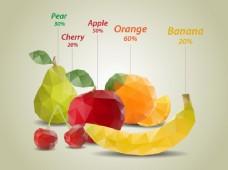 几何水果背景