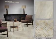 现代简约客厅素色瓷砖地砖材质拼花