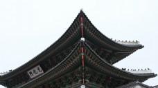 在景福宫的屋顶部分,汉城