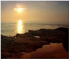 海边落日动态视频素材