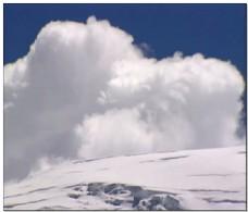 白色雪山视频素材