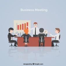商务会议现场统计