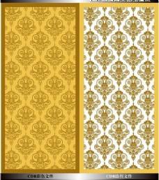 黄色雕花欧式花纹现代简约背景墙装修效果图
