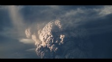 壮观的火山烟云视频