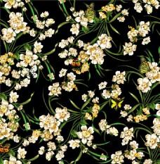典雅缠枝花背景墙效果图