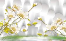 漂亮花朵背景墙