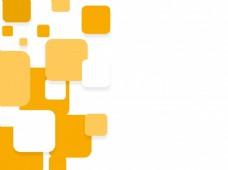 时髦的平坦的白色和黄色的方块,宣传册上的背景、传单或演示设计。