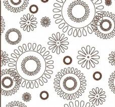 现代简约圆圈花朵背景墙装修效果图