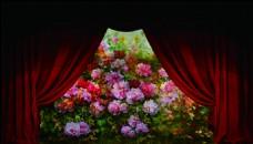 帷幔与花园婚礼背景可以直接制作