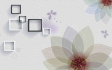 唯美花卉现代简约电视背景墙