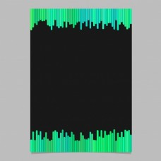从绿色的色调,竖条纹的黑色背景矢量宣传册平面设计文档模板