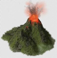 火山喷熔岩免抠png透明图层素材