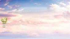 浪漫天空热气球背景