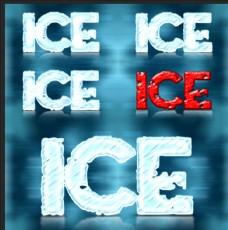 冰雪字体特效