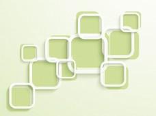 时髦的白色和白色?绿色广场,为宣传背景,传单或演示设计。