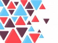 平面彩色三角形,抽象背景小册子,传单或演示设计,矢量插图。