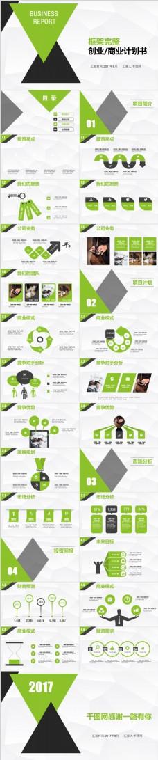 绿色商业计划书ppt模板