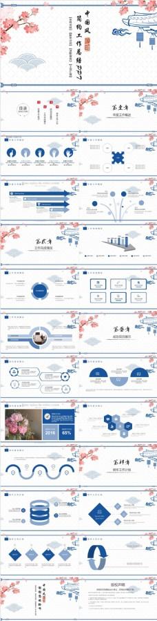 中国风年终总结计划教育教学PPT模板