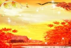 枫叶秋季风景素材