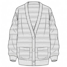 花纹线稿开衫毛衫服装设计(9)