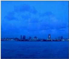 蓝色海景动态视频素材