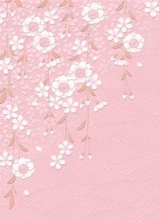 粉色边角花纹图案背景