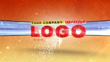 三维logo文字展示ae模版