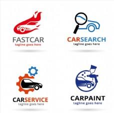四款多彩创意汽车标志矢量素材