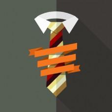 领带上的彩带背景素材