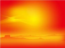 红色梦幻长城背景图
