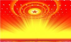红色光芒国庆背景图