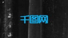 破损黑色背景文字logo展示模版